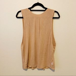 RVCA METALLIC GOLD OPEN-BACK TANK TOP